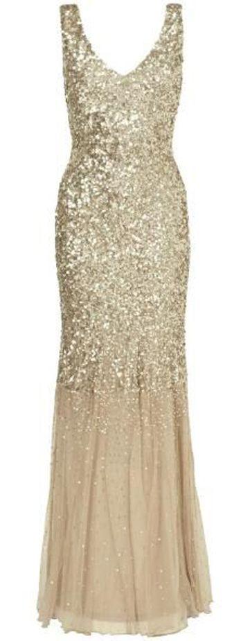 Sequin full length dress