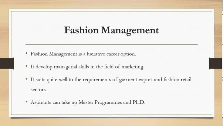 Fashion and Design Eligibility and Career