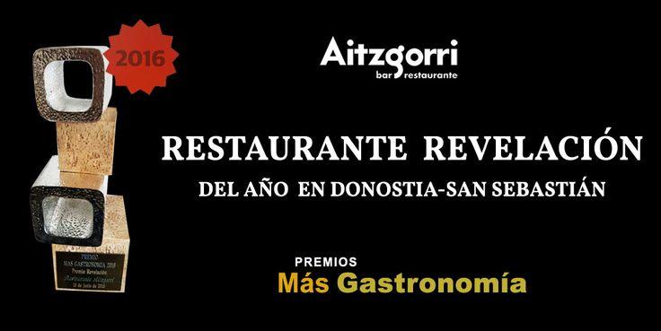 Aitzgorri, restaurante revelación del año en Donostia-San Sebastián. Premios Más Gastronomía #donostia #sansebastian #euskadi #basquecountry #pintxos
