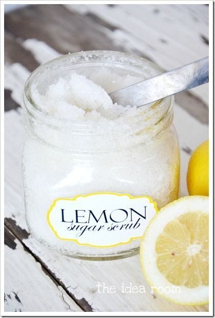 Make your own Lemon Sugar Scrub with this easy recipe.  Smells amazing!