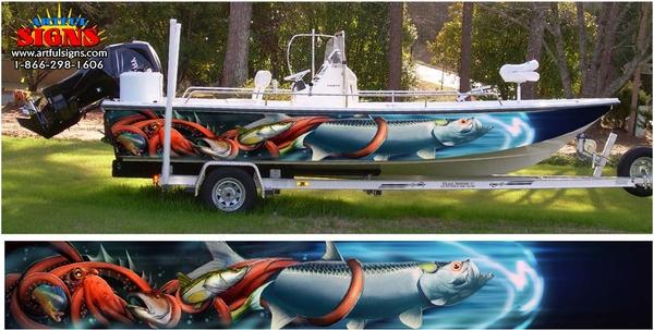 Custom Boat Wrap By Artful Signs Inc Boat Wraps