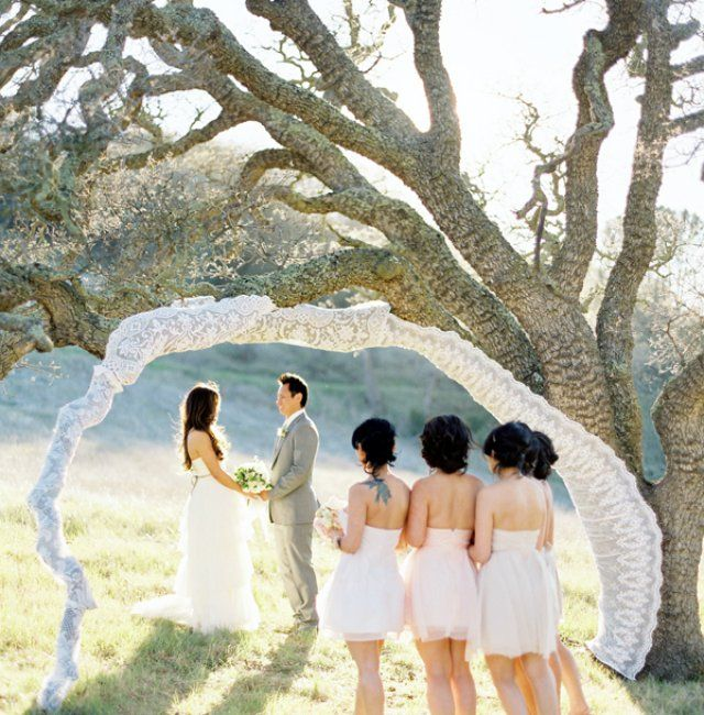 Romantic Outdoor Wedding: 17 Best Ideas About Outdoor Wedding Backdrops On Pinterest