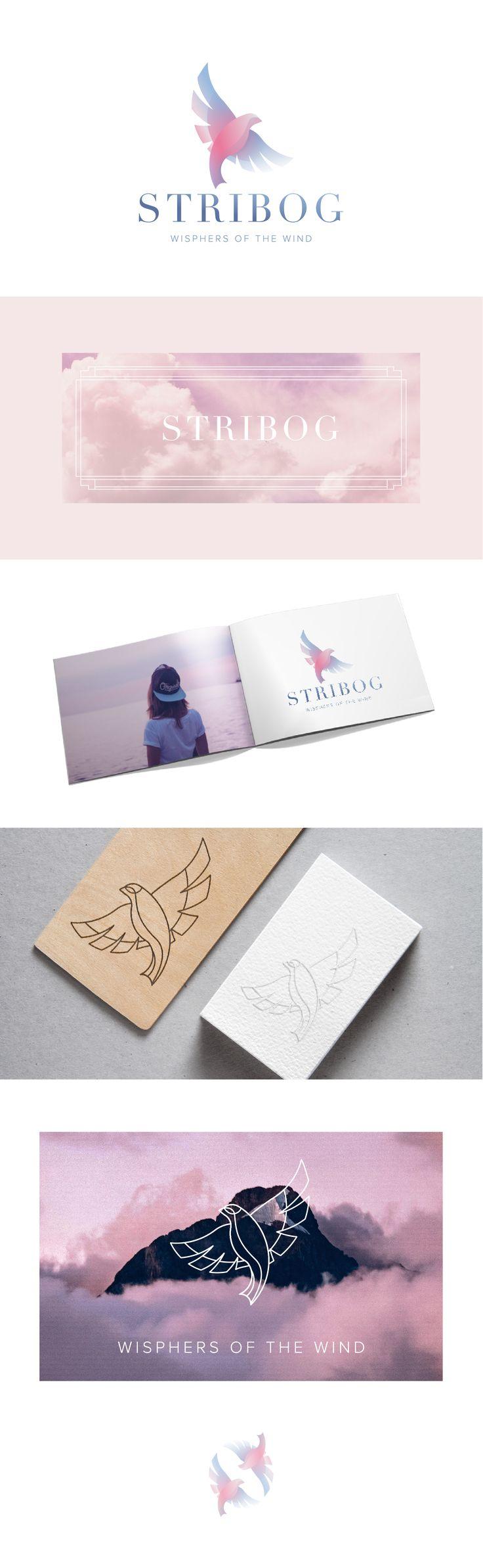 Stribog - logo design #graphicedesign #logo #stribog #bird #gradient #whispersofthewind