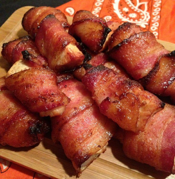 Paleo Bacon Wrapped Chicken Strips  #PaleoCupboard