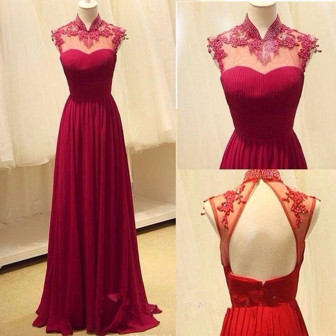 Charming Prom Dress, Chiffon Evening Dress,Sexy Backless Prom Dress,Long Prom Dresses by fancygirldress, $155.00 USD