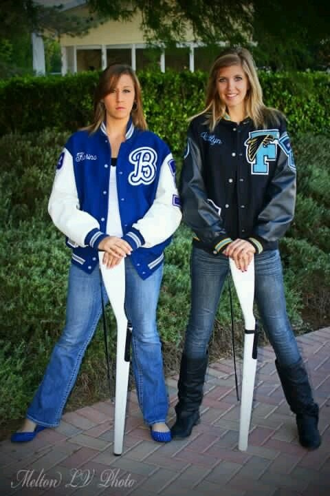 Two sisters from two different schools doing one single sport that they love; color guard