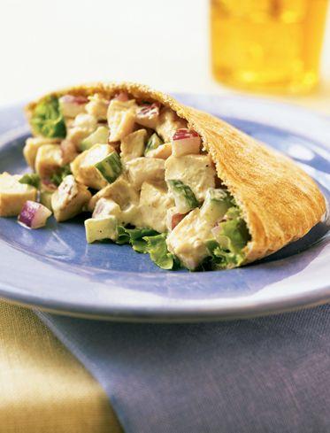 Indian Chicken Salad Pockets Healthy Recipe #BiggestLoser