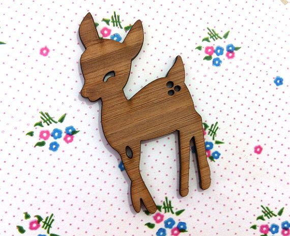 Wooden Fawn  Laser Cut Supplies 1 pce by CraftyCutsLaser on Etsy, $4.00 #craftycutslaser #lasercut #lasercutwood