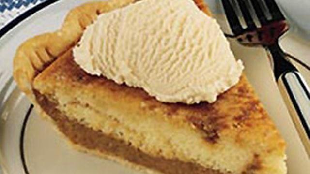 Pennsylvania Dutch Cake and Custard Pie: Sour Cream, Custard Pies, Fresh Flavored, Cream Add, Dutch Cakes, Pennsylvania Dutch, Add Fresh, Custard Lik Fillings, Shoofly Pies