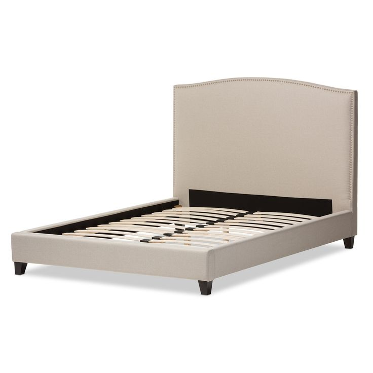 Baxton Studio Aisling Light Beige Modern Platform Bed (Queen Size Bed-Beige)