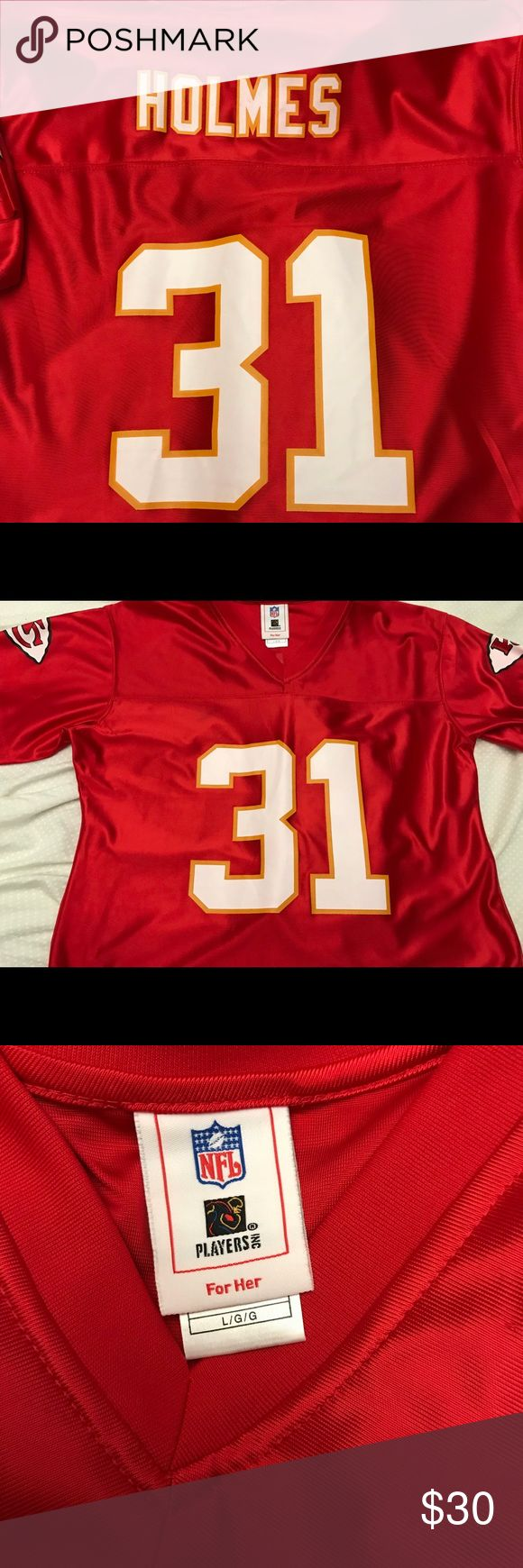 limited white road nfl jersey dustin colquitt kansas city chiefs jersey womens size large. womens size large priest holmes.