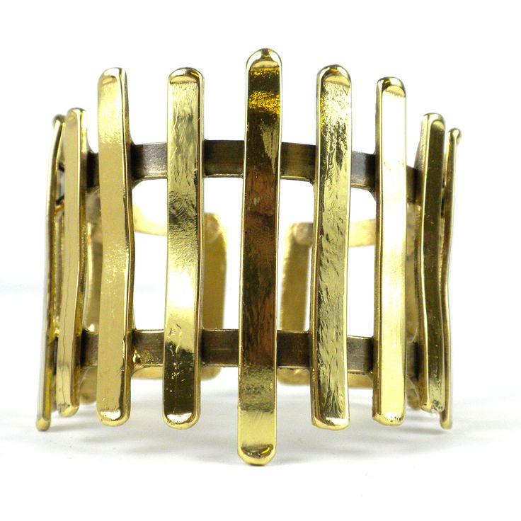 Excited to share the latest addition to my #etsy shop: Fence Brass Cuff | Handcraft Brass Cuff Bracelet Jewelry | Handmade By Artists | Unique Gift | Woman Bracelet | Stone Bracelet http://etsy.me/2CWnNbF #jewelry #bracelet #gold #christmas #geometric #no #women #brass
