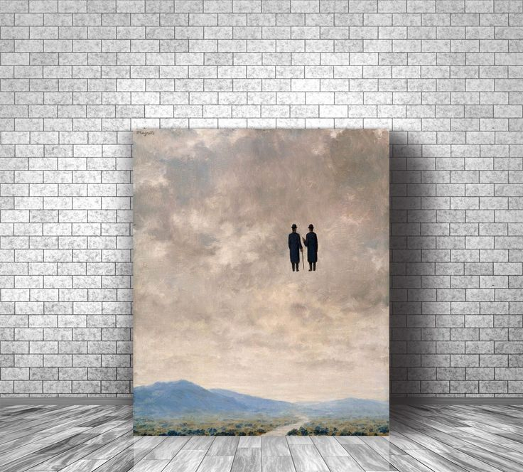 Rene Magritte The Art Of Conversation Famous Canvas Print Classic Reproduction Wall Decor Famous Artist Painting Artsy Gift Famous Artists Paintings Artist Painting Classic Paintings