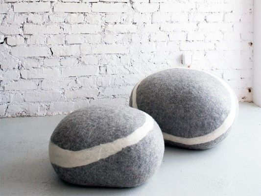 Felt Stones I Love The Idea Of These As Seating Or