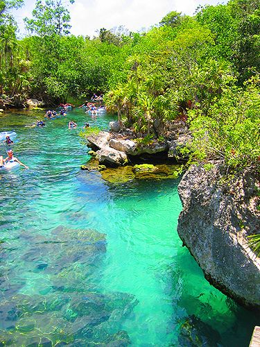 There is no better way to spend an afternoon than on the lazy river in Xel-ha, Mexico This brings back memories.