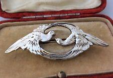 Art Nouveau Dove Love Birds Brooch Pin