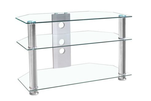 MMT Jet Clear Glass Universal TV Stand for TVs up to 37 inch £54 Tesco