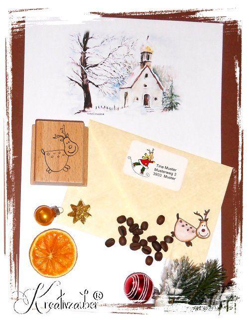 Briefpapier und AdressAufkleber ★ Viele winterliche und weihnachtliche Motive  ★ ein Schreibset ist ein tolles Geschenk für alle die gerne schreiben und schöne Papierwaren lieben ★ www.kreativ-exklusiv.de
