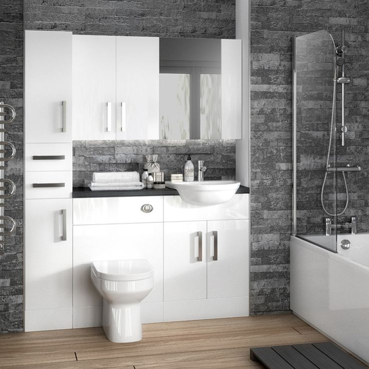 Best 25 fitted bathroom furniture ideas on pinterest for Small fitted bathrooms