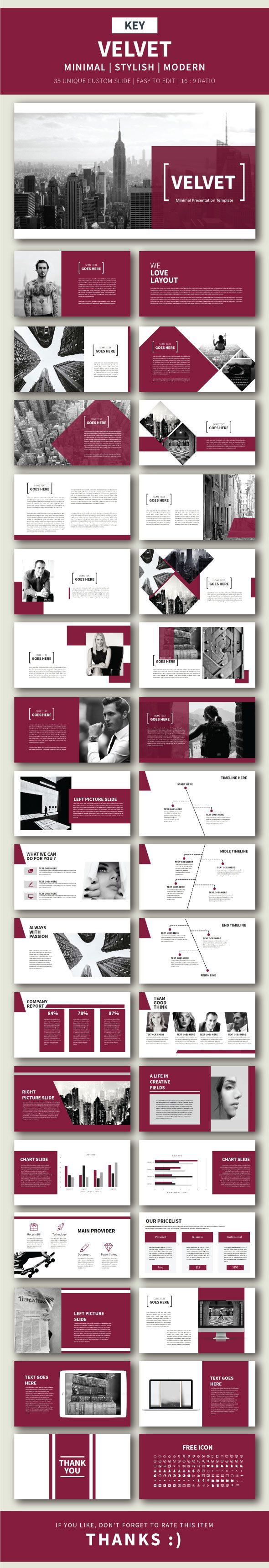 Velvet Keynote Presentation Template - Finance Keynote Templates