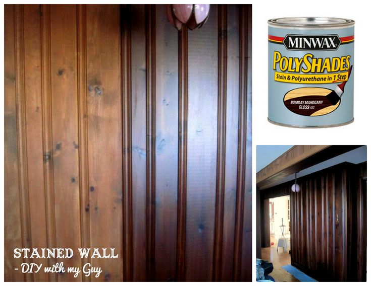 How to stain old wood paneling without sanding....could come in handy one day...