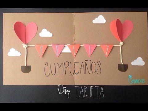 Tarjeta de Feliz Cumpleaños l DIY - YouTube