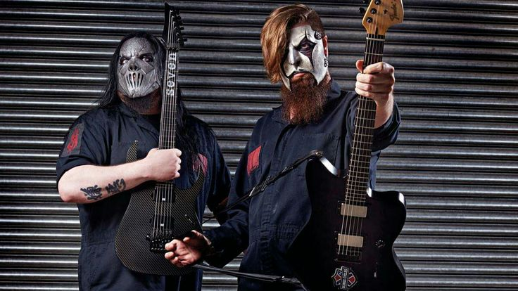 Mick Thomson and James Root