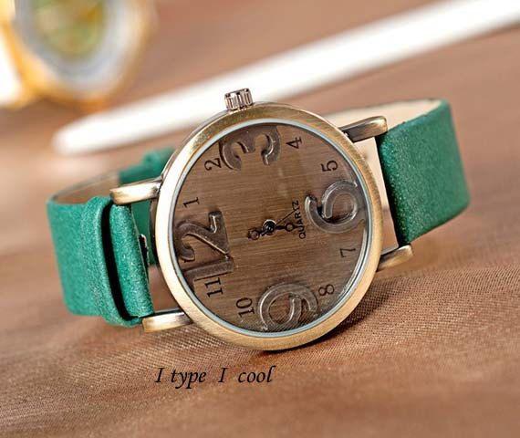 Unisex Watch Vintage 3D Watch Women's watches Mens PU leather Wristwatch best gift