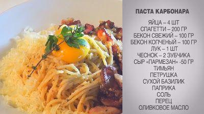 Вкусные домашние рецепты:   Паста / Паста Карбонара / Паста Карбонара с беко...