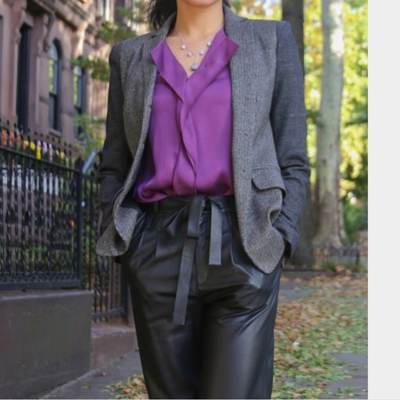 HOST PICK!!!Rachael Zoe high waist leather pants Wore only once. High quality lamb leather. Brand new. Rachel Zoe Pants Trousers