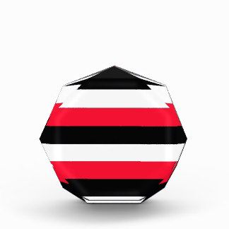Red, black and white stripes award