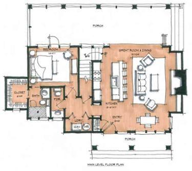 4 Room Cabin Plans   Designs For Building A Log Cabin.