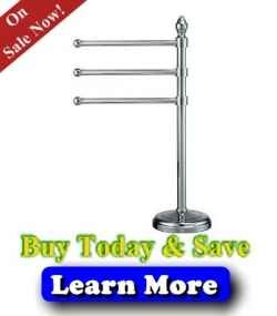 Chrome Free Standing Towel Rack - Free Standing Towel Rack