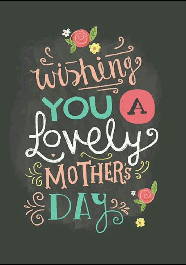 Wishing you a lovely Mother's Day