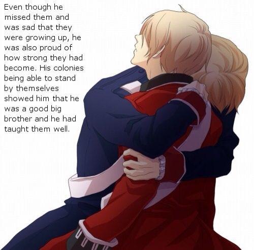 I'm American and um glad for my independence but I can't help but feel bad for England because think about how much his heart had to hurt after the loss of his little brother