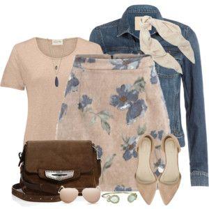Denim Jacket and Floral Skirt