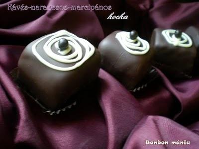 Bonbon mánia: Kávés-narancsos-marcipános kocka