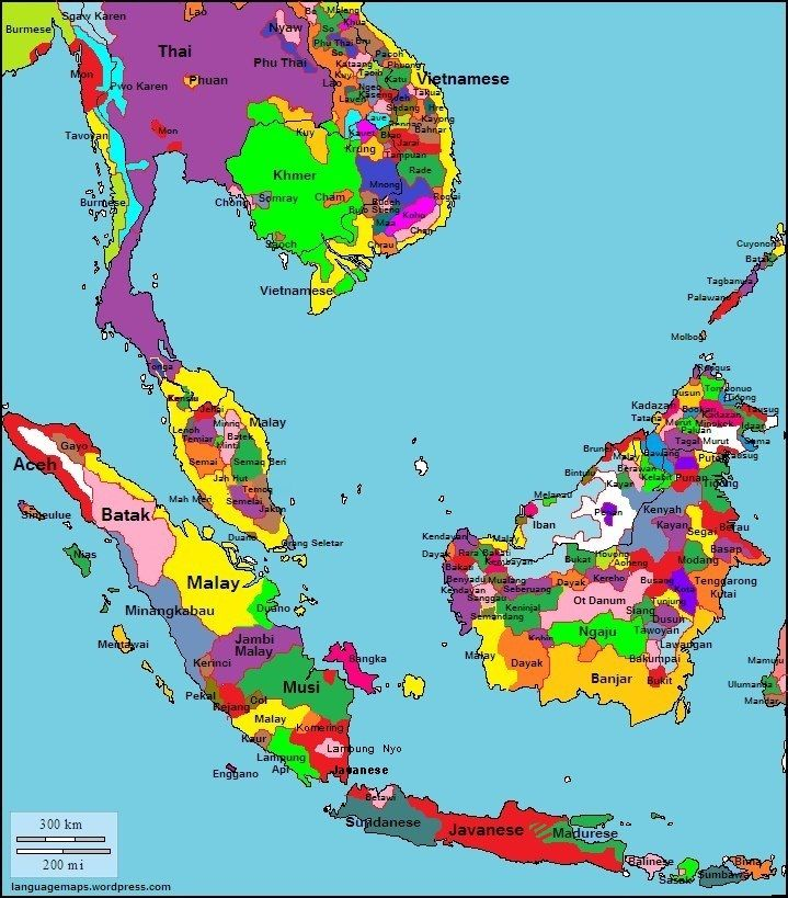 Languages Of South East Asia With Images Language Map Map