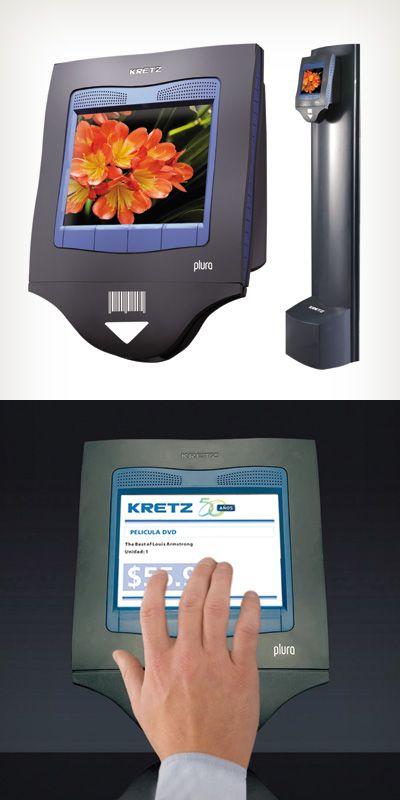 Verificador de precios, Plura Multimedia Touch de  Kretz S.A., distinguido con el Sello de Buen Diseño 2013.