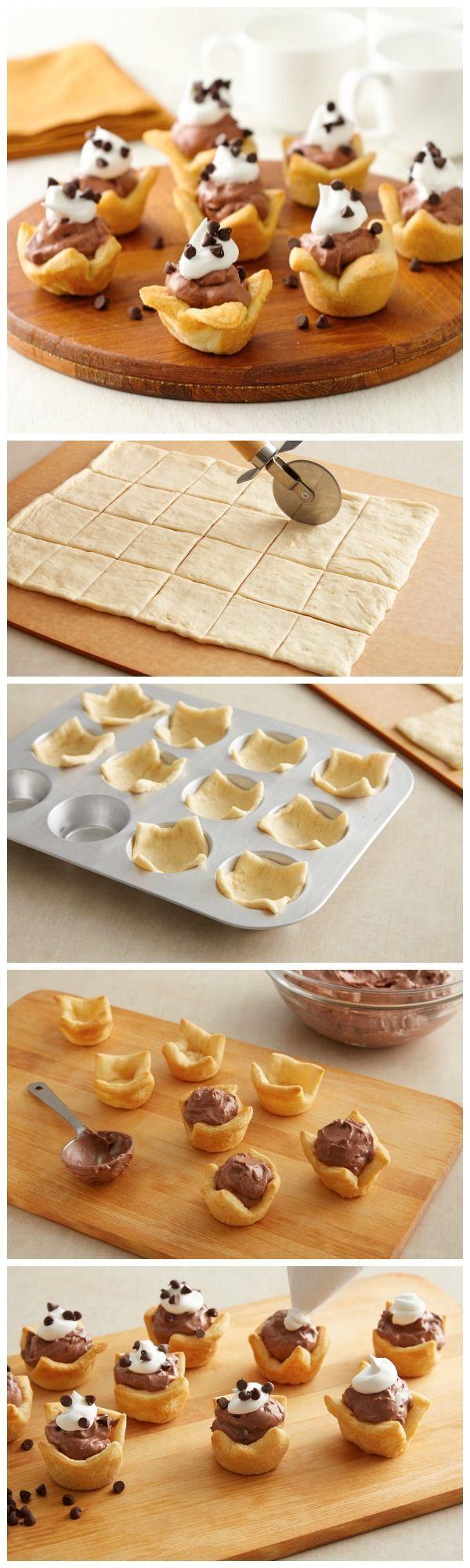 Thanksgiving mini dessert idea: French Silk Crescent Pies from Pillsbury!: