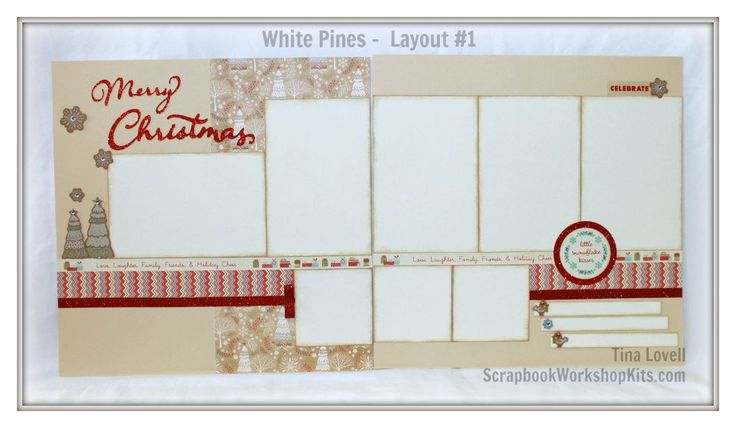 Scrapbooking Kits: White Pines 6 Page Scrapbooking Kit - $22