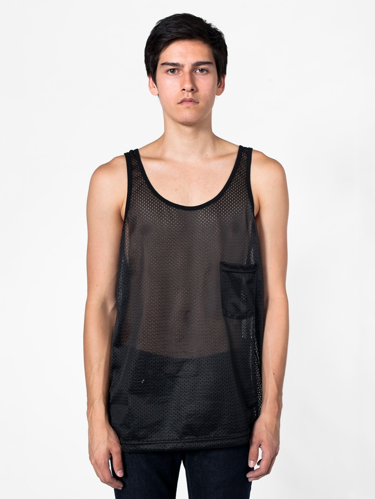 American Apparel Mesh Big Pocket Tank
