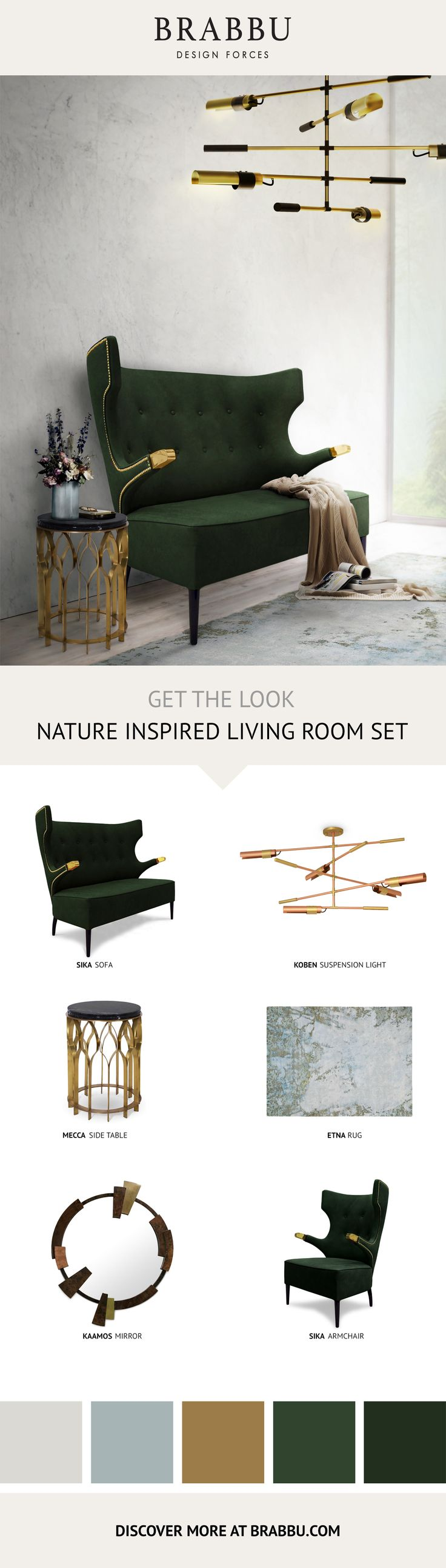 Get the look nature inspired living room set living room ideas by brabbu