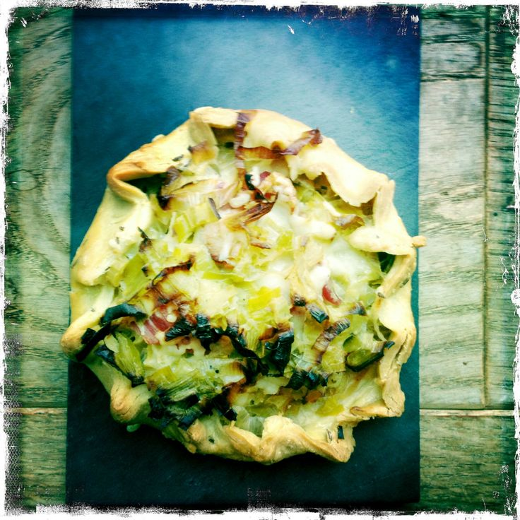 LEEK & CHEDDAR GALETTE WITH CARAWAY CRUST {via Rachel Khoo - Little Paris Kitchen}