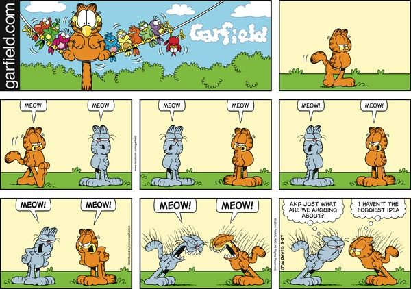 Garfield comic strip jim davis