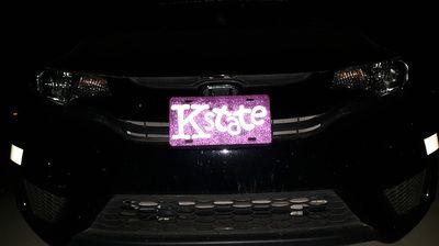 Custom reflective license plates, personalized license plates, nothing painted, all reflective, everything customizable.