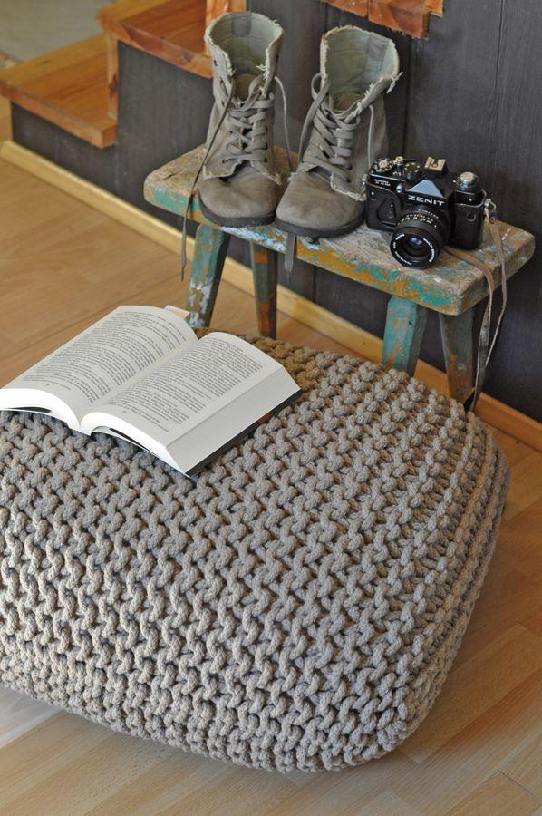 Decovena - naturalne tekstylia, skandynawski design w dobrej cenie : PUFY