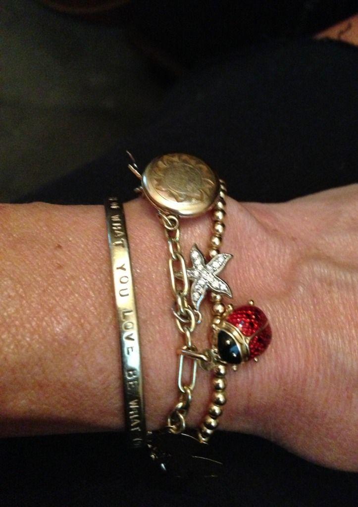 Charm bracelets layered not pandora PurseForum falling for