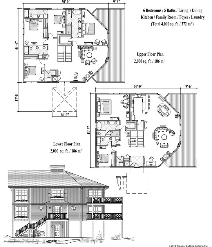 54 best images about beach house on pinterest credit for Island house plans on pilings