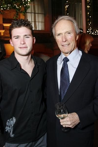 "Like father, like son! Model and actor Scott Eastwood posed with his father Clint Eastwood at the premiere of ""Gran Torino"" in Los Angeles on Dec. 9, 2008."